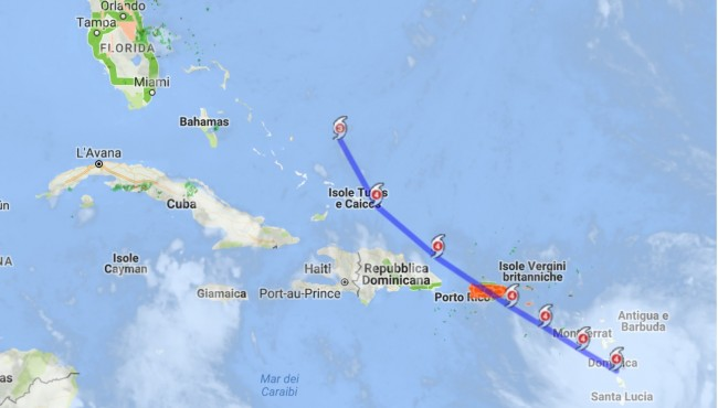 El huracán María alcanza la categoría 5 y se acerca a Dominica (+Video)
